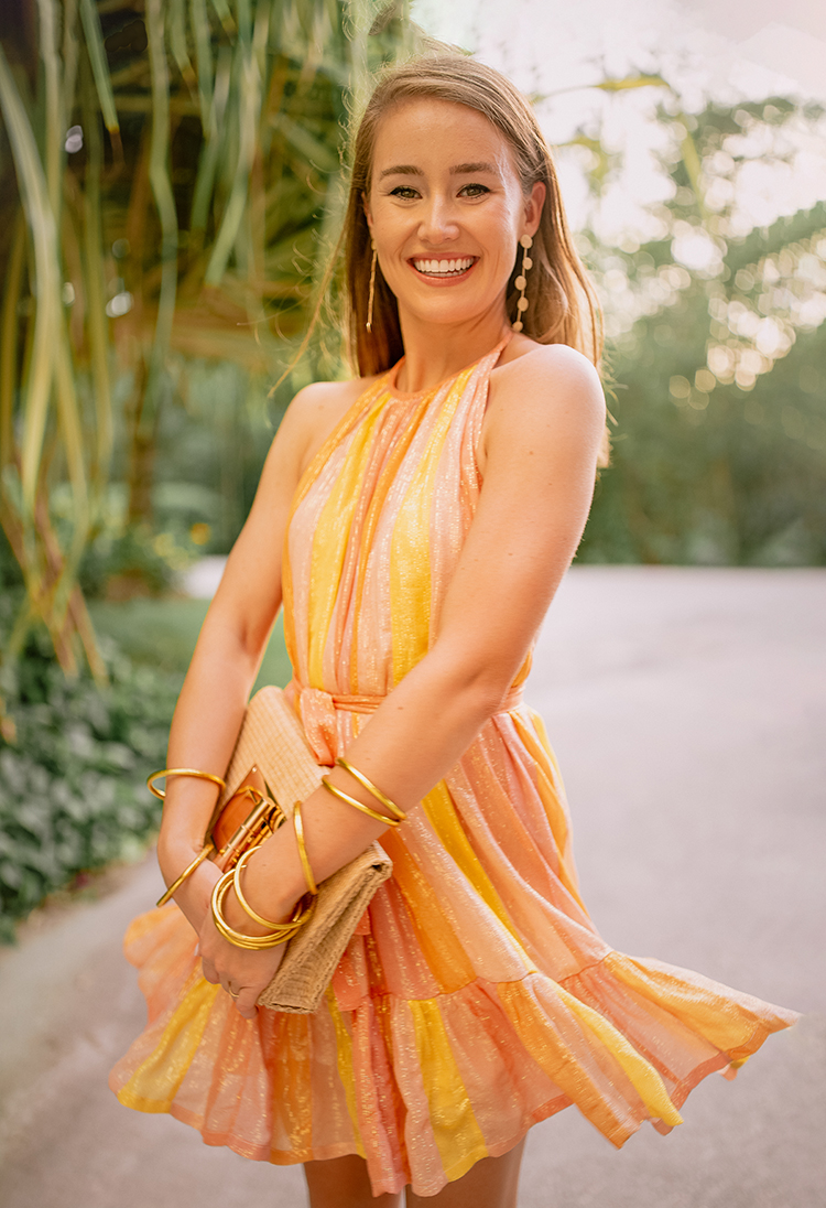 sundress alice halter dress, stuart weitzman nudist espadrille wedge, buddha girl bracelets