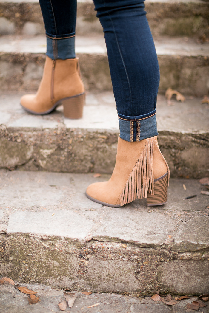 forever21 fringe booties