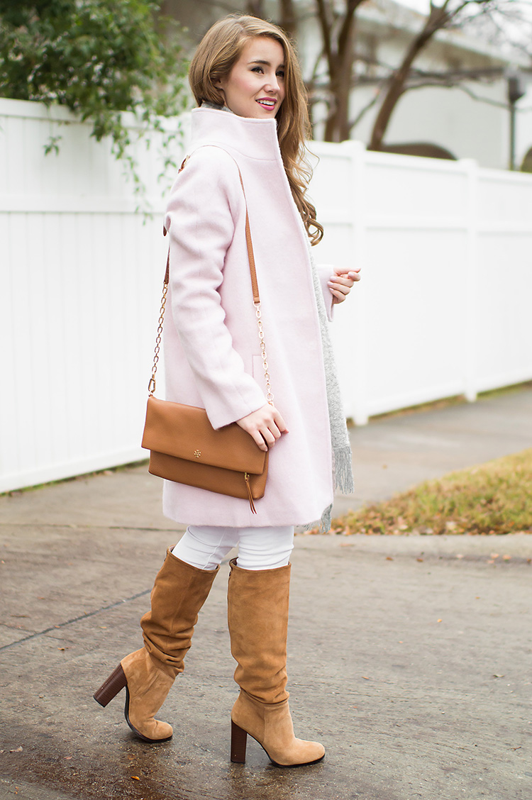 how to cheer up your winter wardrobe, pink coat