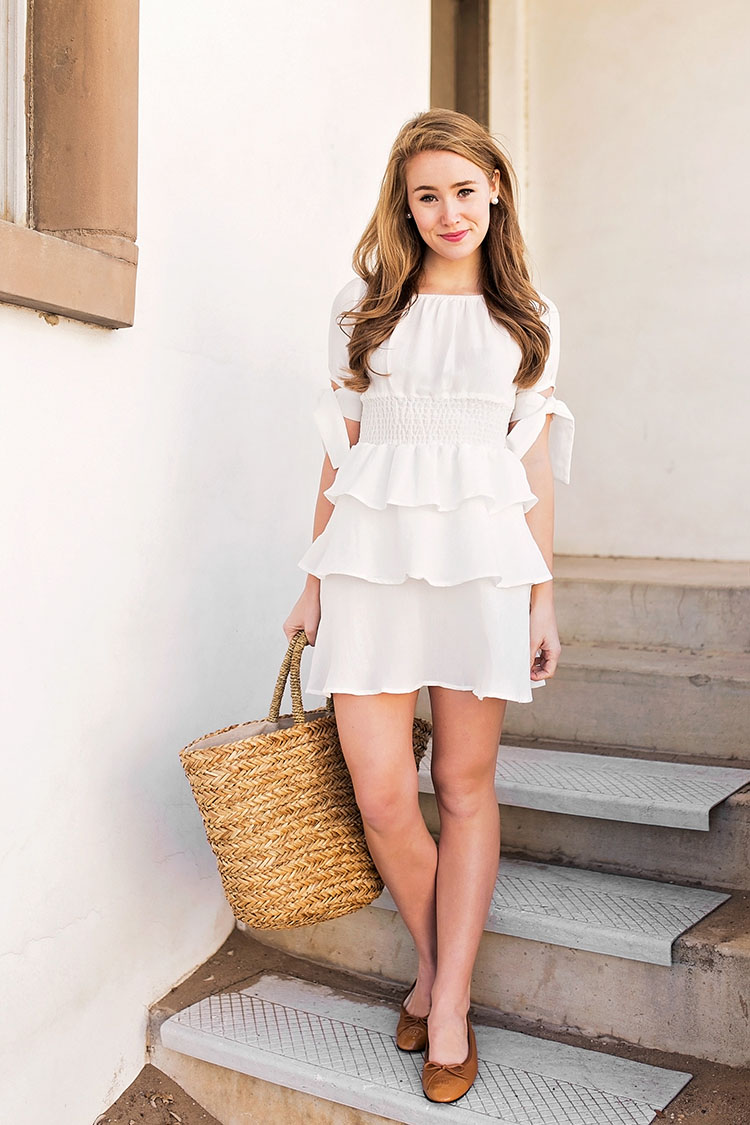 White Flounce Dress A Lonestar State Of Southern
