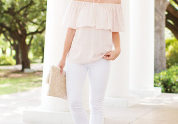 halter neck ruffle blouse