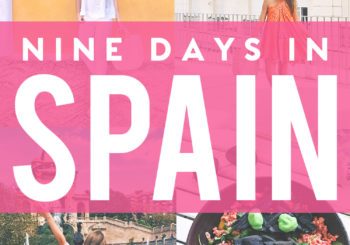 my spain itinerary