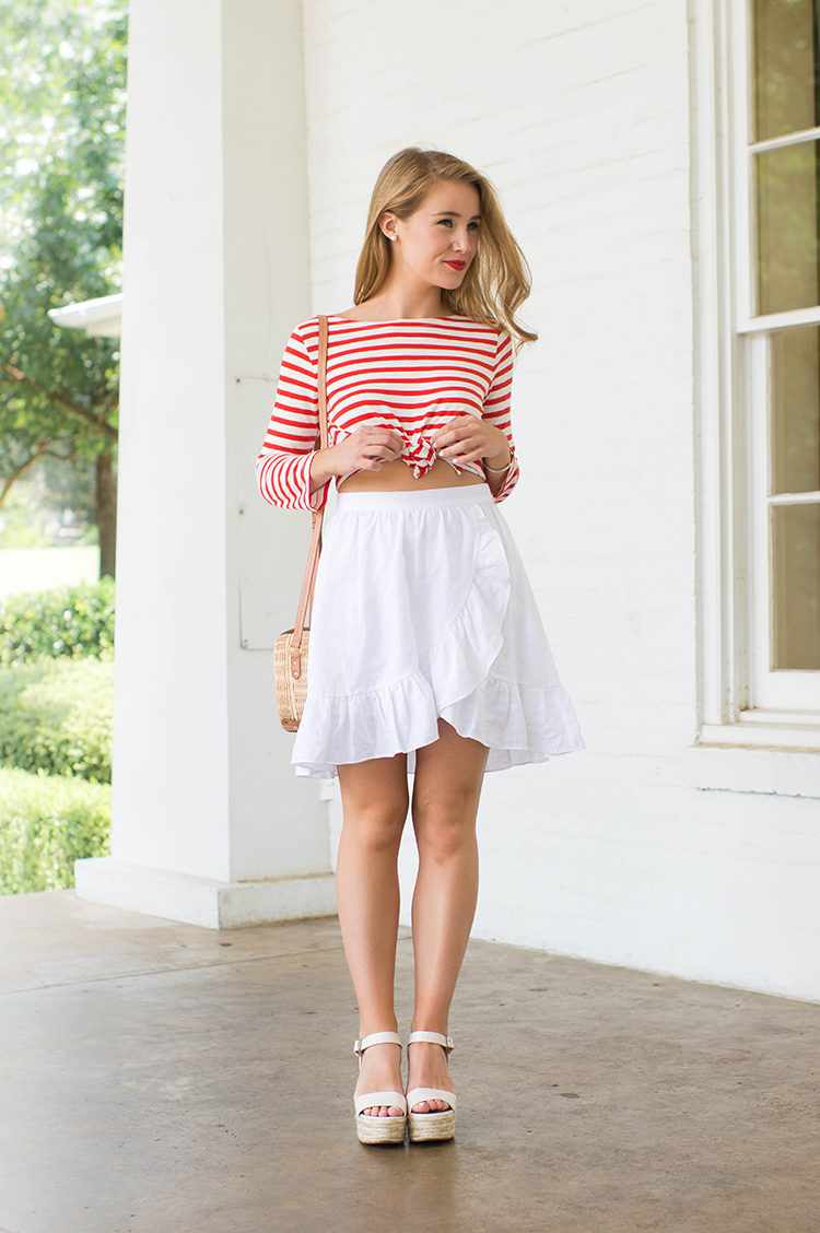 j.crew striped boatneck t-shirt