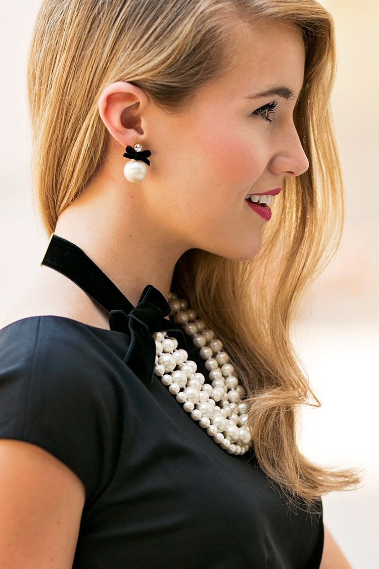 kate spade pearl earrings, kate spade pearl necklace