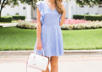 blue ruffle dress // 40% off
