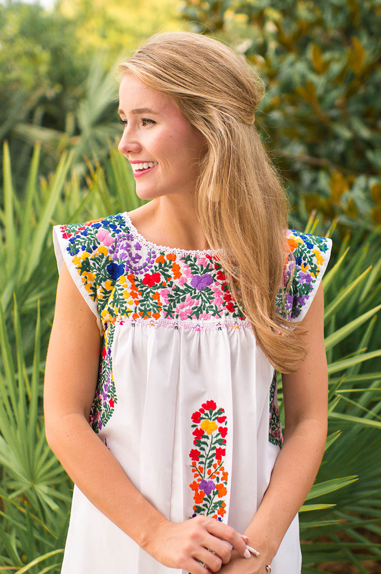 mi golondrina, embroidered mexican dress, mexican top, mexican dress