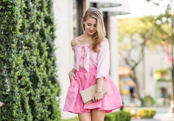 $10 pink flare skirt