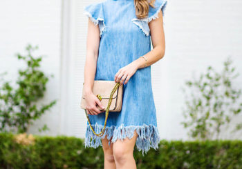 denim fringe dress under $30
