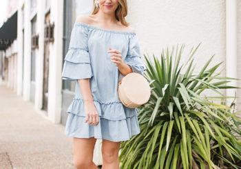 chambray dress under $25