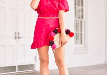 hot pink matching set