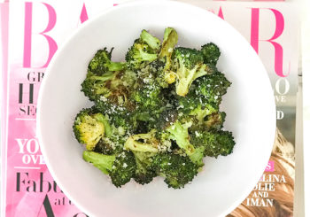 recipe // easy lemon parmesan broccoli