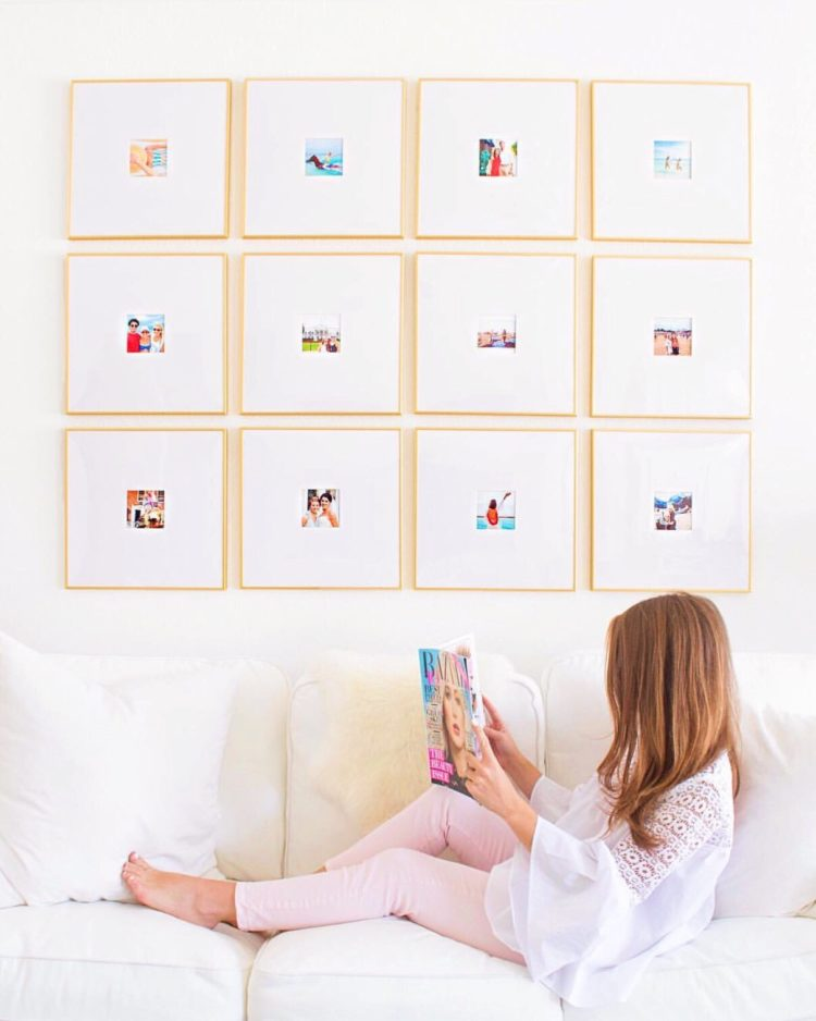 how to create a gold gallery wall