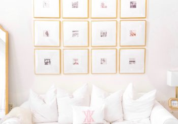 how to create this gold gallery wall