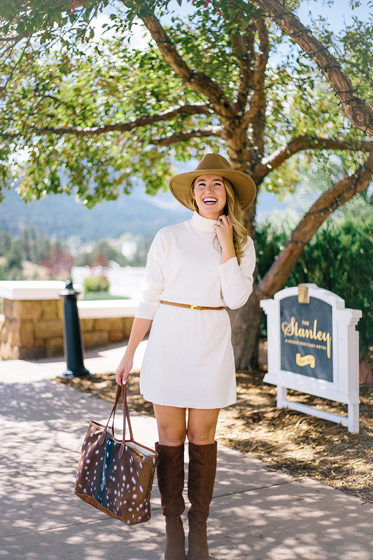 how to style a sweater dress