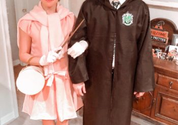 our halloween costumes // professor umbridge and draco malfoy