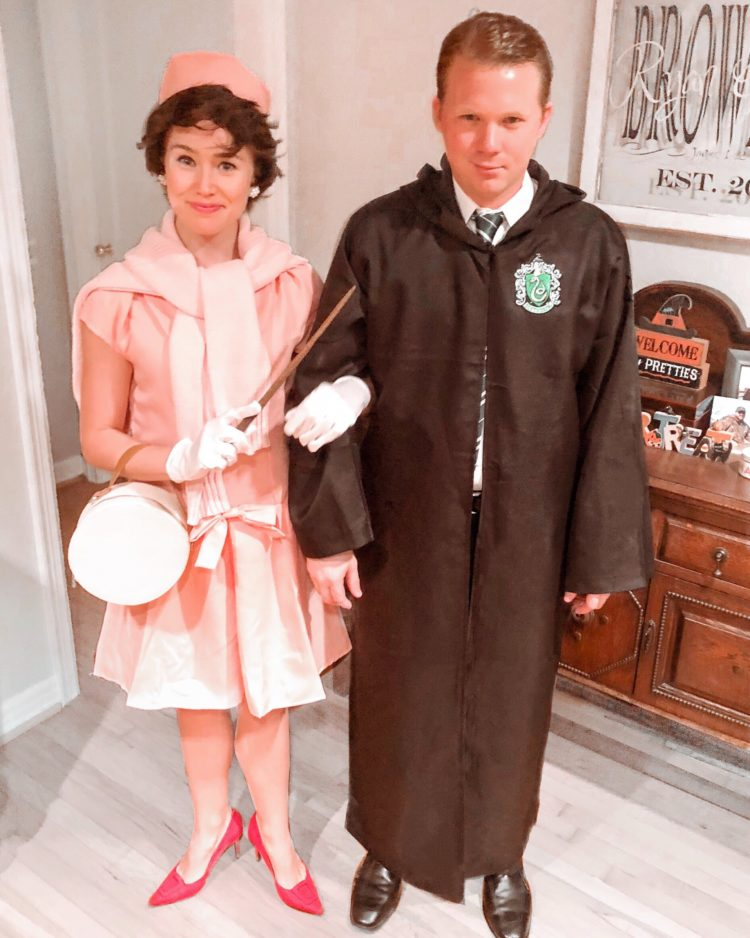 professor umbridge costume, dolores umbridge costume, draco malfoy costume, halloween costume
