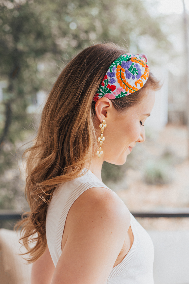 mi golondrina embroidered headband