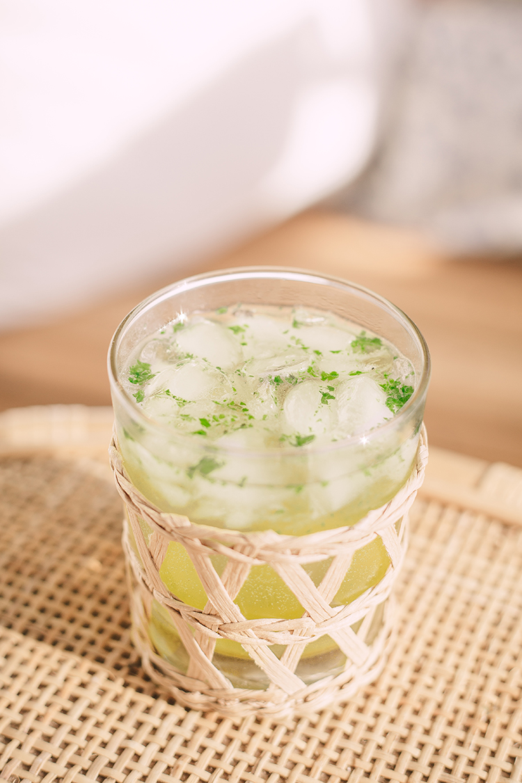 swamp water cocktail recipe, wicker glass, amanda lindroth glass