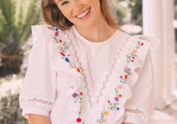 the prettiest hand embroidered blouse