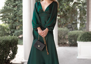 a gorgeous green evening gown
