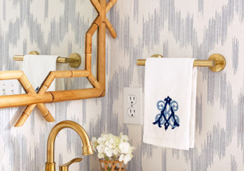 our blue and white powder room reveal