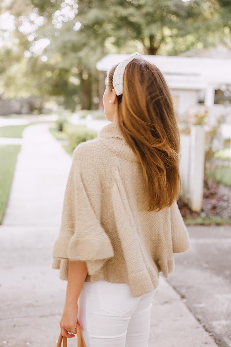 ruffled sweater