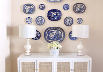 how to create a blue & white plate wall