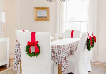 DIY christmas chair wreaths