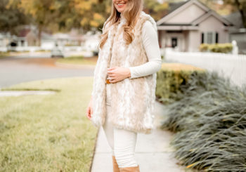 the white faux fur vest i'm obsessed with