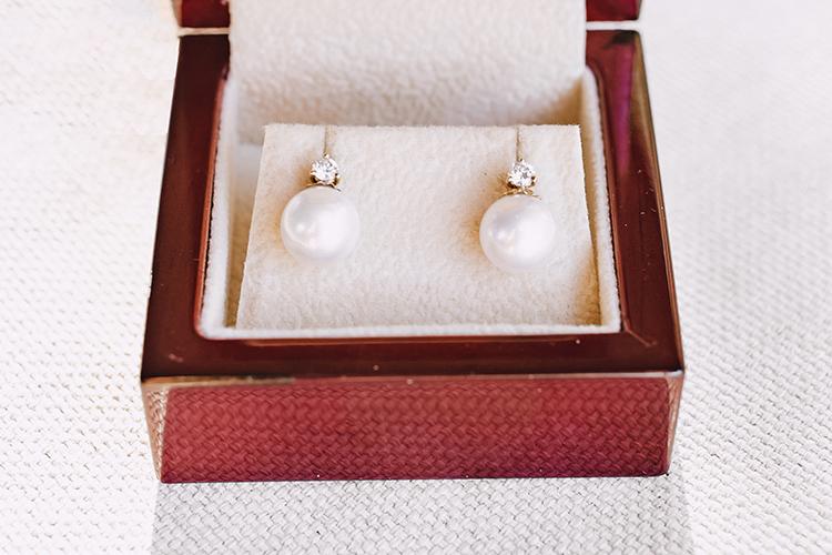 pearl diamond wedding earrings