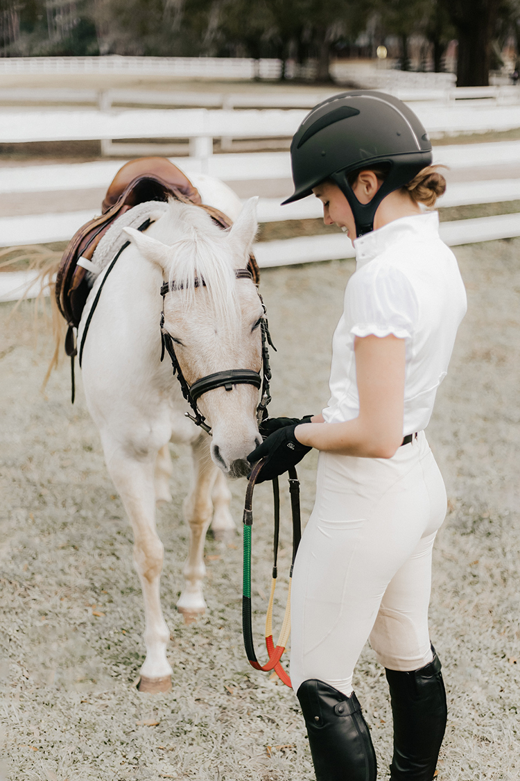 cute equestrian apparel, bit and bloom riding, one k defender helmet, ariat contour ii heritage field boot