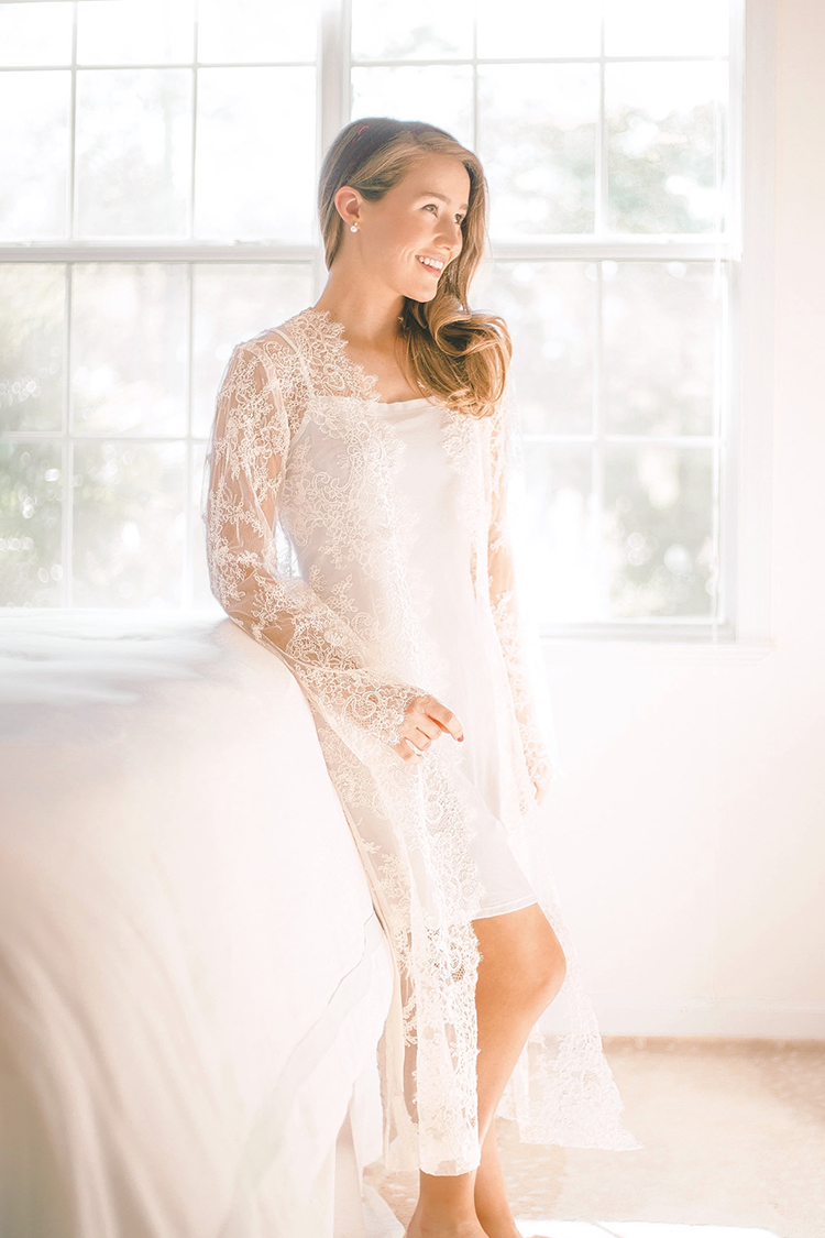 sareh nouri lace bridal robe